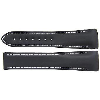 Authentieke omega horlogeband 22mm zwart rubber omega 98000269