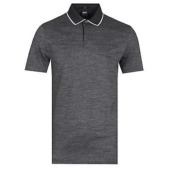 Baas Pitton Slim Fit Houtskool Polo Shirt