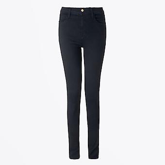 J Brand - Maria - High Rise Skinny Jeans - Blauw/Zwart