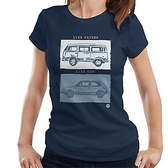 Volkswagen like far like son kvinnors T-shirt