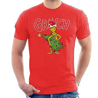 The Grinch Christmas Tree Thief Men's T-Shirt