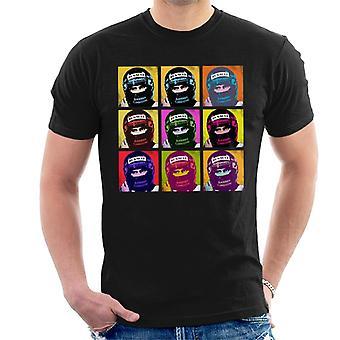 Motorsport bilder Damon Hill portugisiska GP hjälm popkonst män ' s T-shirt
