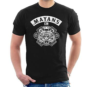 Mayans M.C. Motorcycle Club Face White Logo Emblem Men's T-Shirt