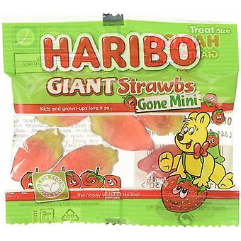 HARIBO Giant Strawbs Gone Mini 1.6kg bulk sweets, 100 x 16g