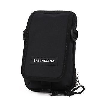 Balenciaga 593329h756x1000 Men's Black Nylon Shoulder Bag
