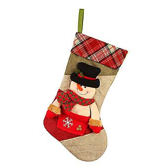 19inch Christmas Stockings Stereoscopic Snowman Hanging Ornament