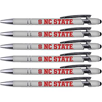Greeting Pen Caroline du Nord State Soft Touch Coated Metal 6 Pack 30522