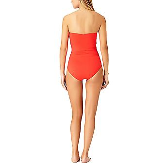 Anne Cole Women's Twist Front Shirred One Piece Swimsuit,, New Red, Size 10.0