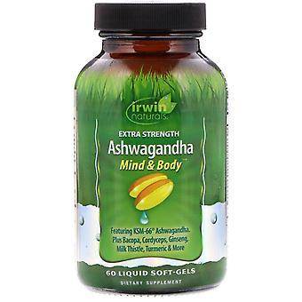 Irwin Naturals, Extra Strength Ashwagandha, 60 Liquid Soft-Gels