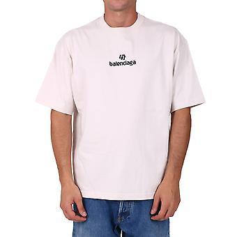 Balenciaga 612966tjvd99054 Mænd's White Cotton T-shirt