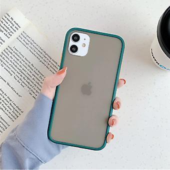 スタッフ認定®iPhone 11プロマックスバンパーケースケースカバーシリコーンTPUアンチショックグリーン