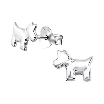 Kinder's Sterling Silber Scottie Hund Ohrstecker