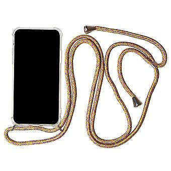 Apple iPhone 7/8 Protection Necklace Shockproof Strap Shell Phone Silicone Rainbow
