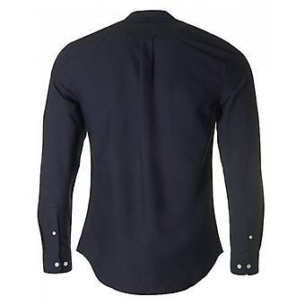 Camisa de Oxford magro do Farah Brewer vovô colar