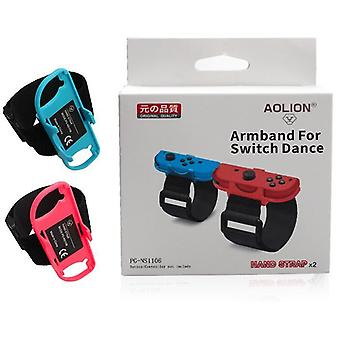1 Pair Adjustable Game Bracelet Elastic Strap For Nintendo Switch Joy-con