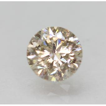 Cert 0.53 Carat TL Brown VS1 Round Brilliant Enhanced Natural Diamond 4.95mm 3VG
