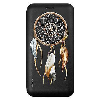 Caso para Samsung Galaxy A41 Black Pattern captura sonhos da natureza