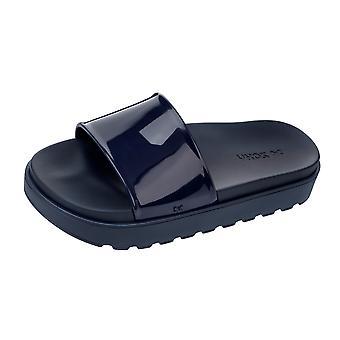 Womens Zaxy Sandals Upload Platform Beach Slide / Flip Flop - Navy