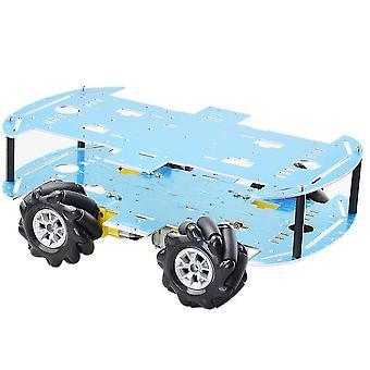Günstigste Doppelplatte Mecanum Rad Roboter Auto Spielzeug