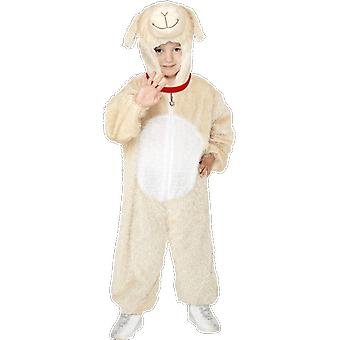 Smiffy's Kids Unisex Fluffy Sheep Fancy Dress Costume Jumpsuit