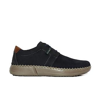 Josef Seibel Louis 01 Navy Leather Mens Casual Shoes