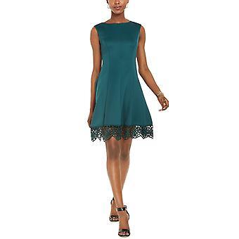 Donna Ricco | Sleeveless Lace Hem Dress