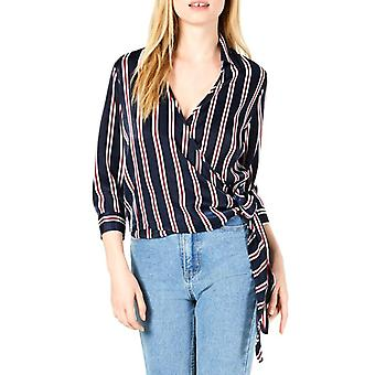 Project 28 | Striped Wrap Top