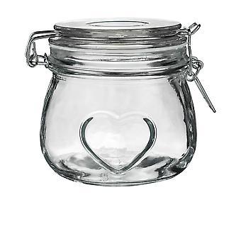 Heart Design Glas opslag / Food Preserve Jar (500ml)