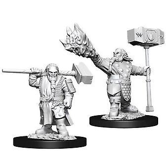 D&D Nolzur's Marvelous Unpainted Miniatures Male Dwarf Cleric (Pack Of 6)