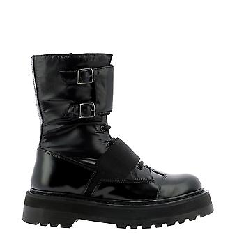Premiata M4970gy Women's Black Leather Ankle Boots