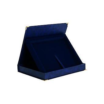 Carcaça de plástico horizontal em azul - para placa 230X180