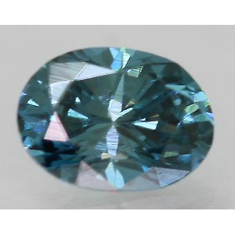 Cert 0,47 Karat Vivid Blau VVS1 Oval Enhanced natürliche lose Diamant 5.58x4.1mm