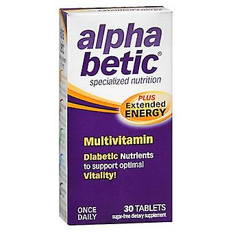 Natureworks Alpha Betic Once-A-Day Multi Vitamin Supplement Caplets, 30 caplets