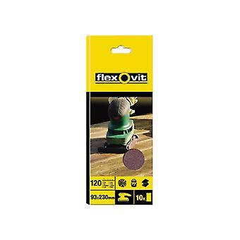Flexovit 1/3 Sanding Sheets Plain Medium Grit (Pack of 10) FLV26320