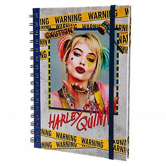 Birds Of Prey Harley Quinn Wirebound Notebook