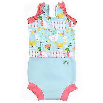 Splash about baby happy nappy costume, little ducks, 0-4 months