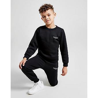 New McKenzie Kids' Mini Essential Crew Tracksuit Black