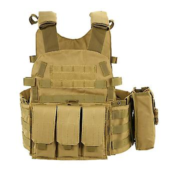 Outdoor Training Tactic Vest- Body Armor Adjustable Combat Vest, Molle Plate