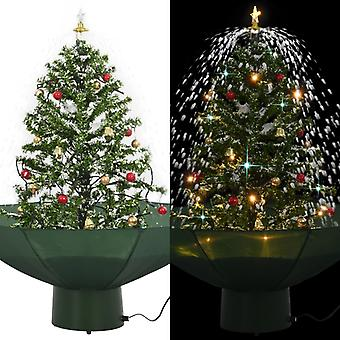 Snowy Christmas tree with umbrella foot green 75 cm