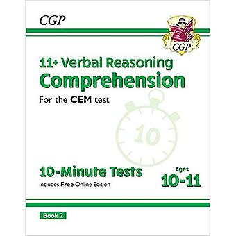 Nye 11+ CEM 10-minutters test: Forståelse - Alder 10-11 Bog 2 (med Online Edition)