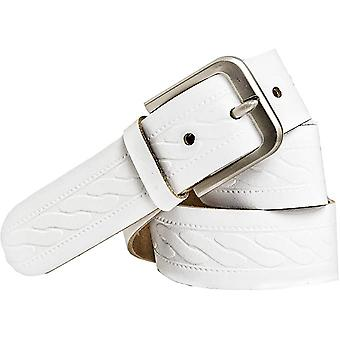 Shenky leather belt 4cm with stainless steel buckle
