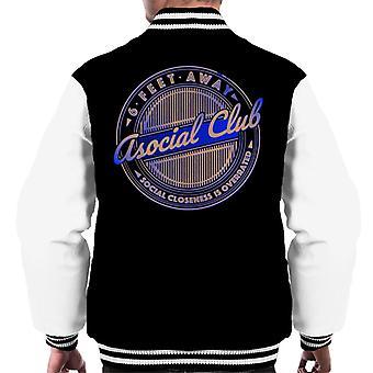 Asocial Club 6 Feet Away Närhet är överskattade män's Varsity Jacket