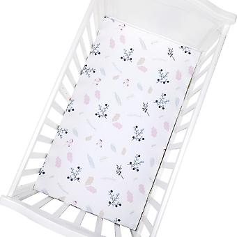 Pasgeboren Baby Crib Ingerichte Bed Matras ademend Cartoon Print Sheet