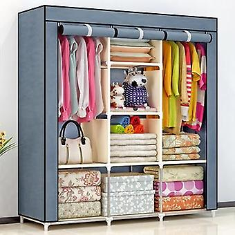 Non-woven Fold Portable Storage Furniture, Quarter Wardrobe Cabinet