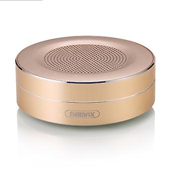 REMAX נייד מוסיקה השמעה מתכת רמקול Bluetooth, מובנה HD מיקרופון, תמיכה שיחות &ללא ידיים & &כרטיס TF AUX IN, מרחק Bluetooth: 10m (זהב)