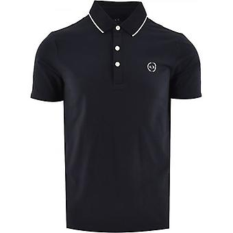 Armani Exchange Navy Regular Fit Polo Shirt