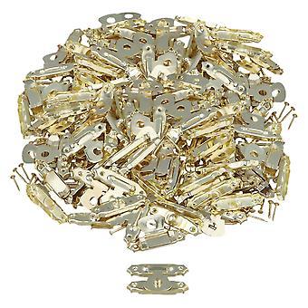 200 x Golden Metal Home Décoratif Mini Jewelry Case Box Latch Catch Buckle