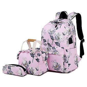 sac d'école rose pour les collé le collège