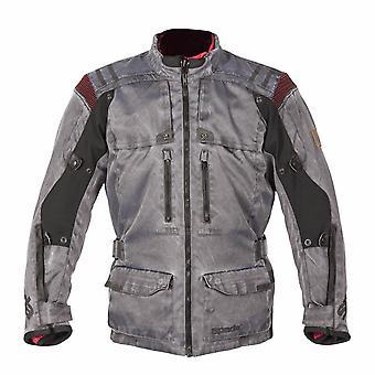 スパーダ ステルヴィオ メン&アポス オートバイ ジャケット グレー 防水通気性 CE アーマー