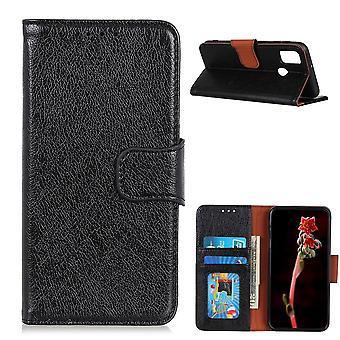 Obudowa portfela OnePlus Nord N10 z teksturą splitu - czarna